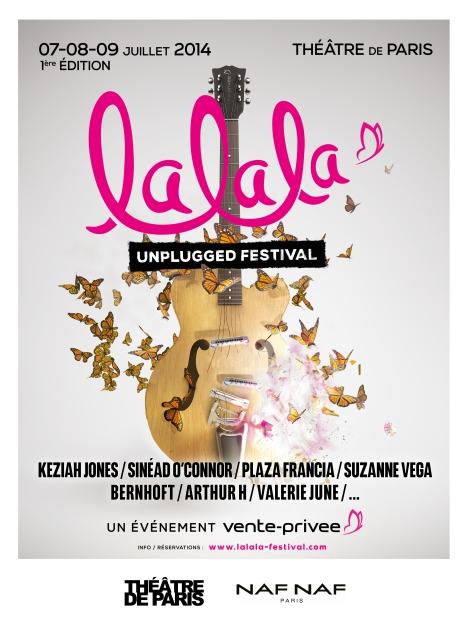 Affiche Lalala Unplugged Festival - un événement vente-privee